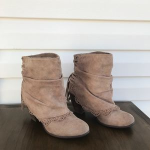Naughty Monkey Suede Lace Bootie
